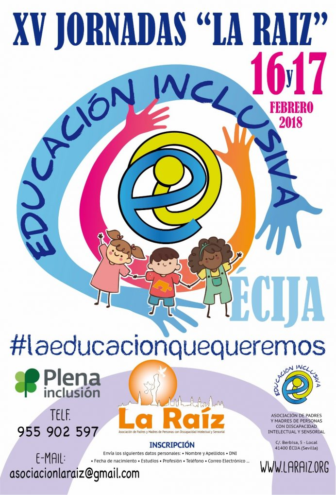 XV JORNADAS DE EDUCACIÓN INCLUSIVA: documentos y enlaces de interés